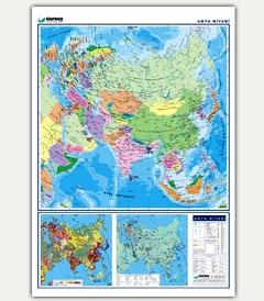 Asya siyasi haritası asya ülkeler haritası türkçe asya kıtası