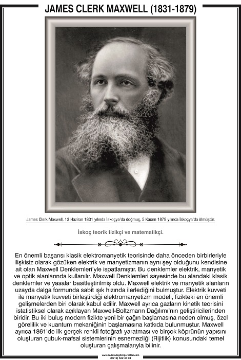 James Clerk Maxwell kimdir,James Clerk Maxwell kısaca hayatı.